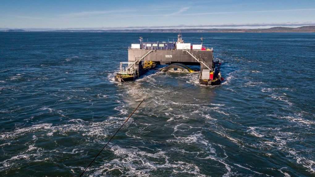 The Scotia Tide deployment barge