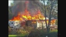 CTV Barrie: Fire destroys garage in Ramara