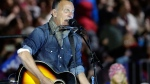 Bruce Springsteen performs during a Hillary Clinton campaign event at Independence Mall in Philadelphia on Monday, Nov. 7, 2016. (AP / Matt Slocum)