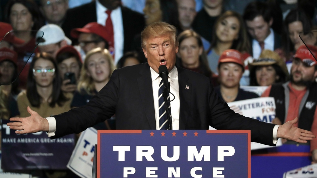 Republican presidential candidate Donald Trum