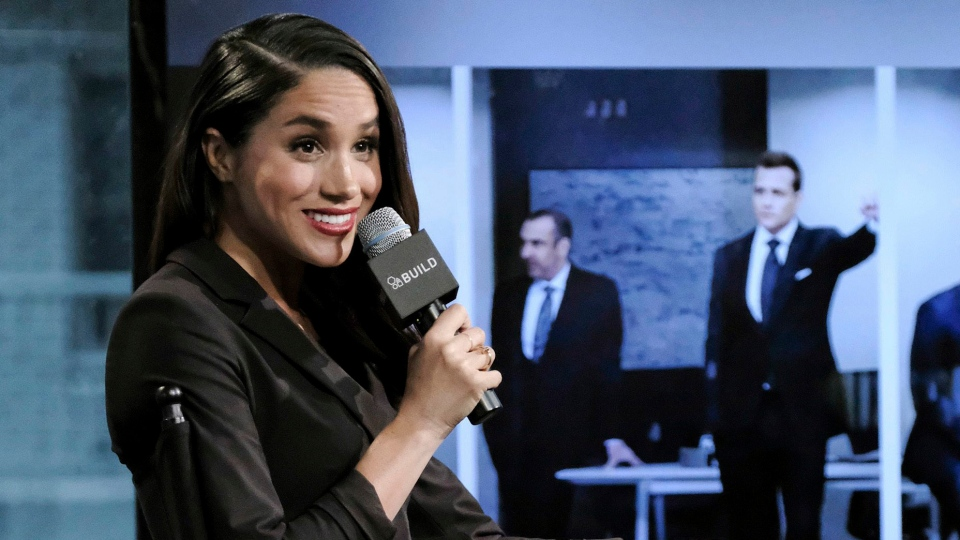 Actress Meghan Markle participates in AOL's BUILD Speaker Series to discuss her role on the television show, 'Suits,' in New York on Thursday, March 17, 2016. (Evan Agostini/Invision/AP)