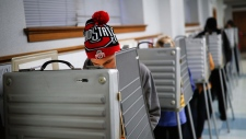 Voter at a polling station in Ohio