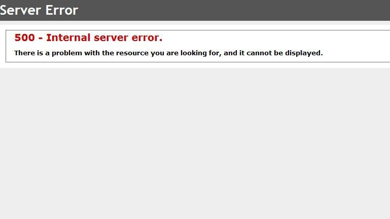 The error received when attempting to access Citizenship and Immigration Canada's website, on Tuesday, Nov. 8, 2016.