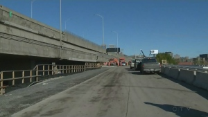Route 136 east of the Turcot Interchange opened in November 2016