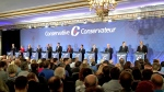 Conservative leadership candidates take part in a debate at Saskatoon's Delta Bessborough hotel on Wednesday, Nov. 9, 2016. (Matt Young/CTV Saskatoon)