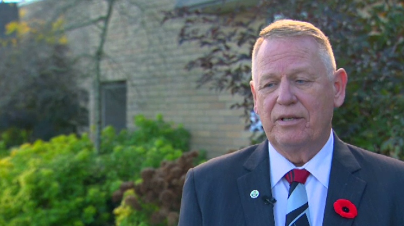 Nanaimo Mayor Bill McKay denied allegations of improper behaviour levelled against him by city councillors, which the RCMP is now investigating. Nov. 9, 2016. (CTV Vancouver Island)