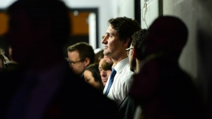 Prime Minister Justin Trudeau waits to speak at a WE day celebration in Ottawa on Wednesday, Nov. 9, 2016. (Sean Kilpatrick / THE CANADIAN PRESS)