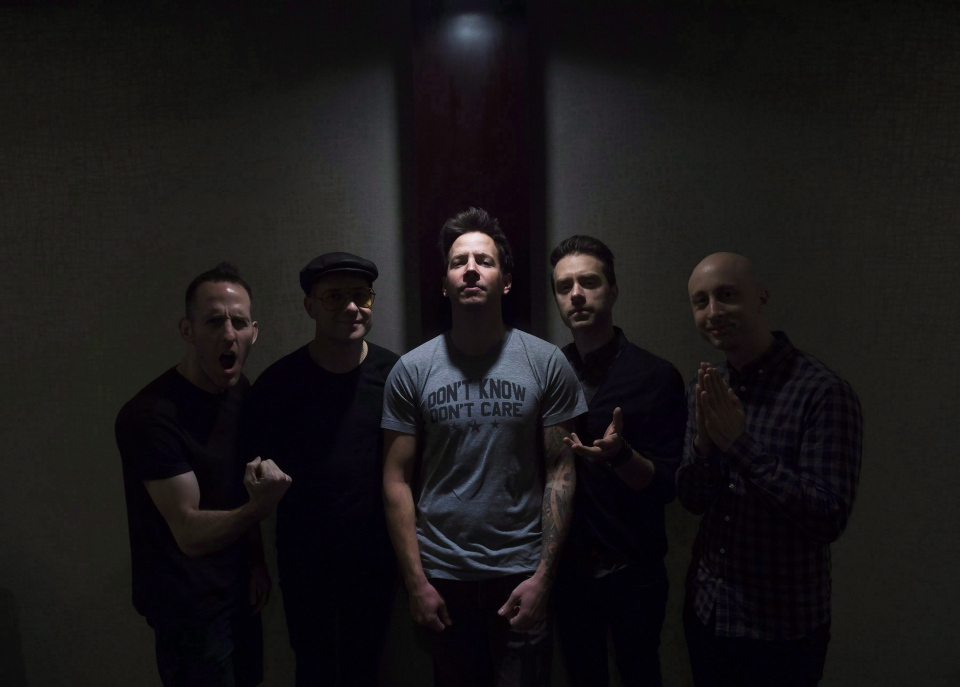 Rock band Simple Plan poses for a photograph in Toronto on Thursday, February 18, 2016. (THE CANADIAN PRESS/Nathan Denette)