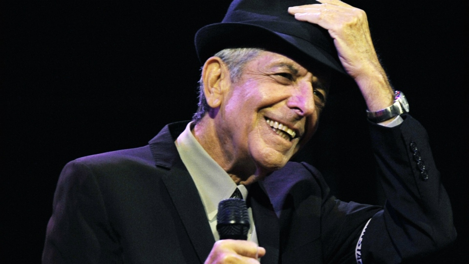 Leonard Cohen performs during the first day of the Coachella Valley Music & Arts Festival in Indio, Calif. on April 17, 2009. (AP / Chris Pizzello)