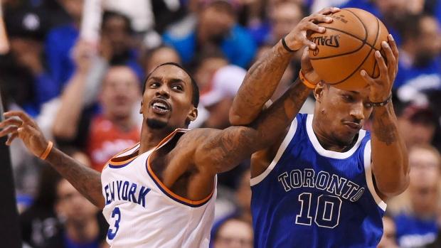 437c75d8da6 New York Knicks guard Brandon Jennings (3) battles for the ball with Toronto  Raptors guard DeMar DeRozan (10) during first half NBA basketball action in  ...