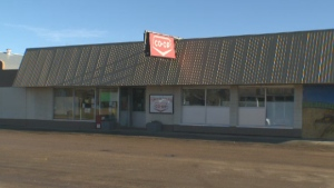 Co-op in Irma, Alberta where a woman won a $50 million Lotto Max jackpot.