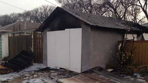 Firefighters called to a garage fire.