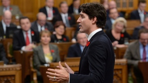 Prime Minister Justin Trudeau answers a question during question period in the House of Commons on Parliament Hill in Ottawa on Wednesday, Nov. 2, 2016. (Adrian Wyld / THE CANADIAN PRESS)