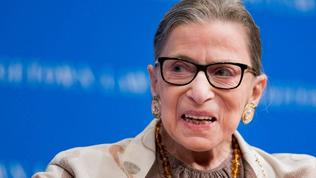 Ruth Bader Ginsburg hospitalized after fall in her office