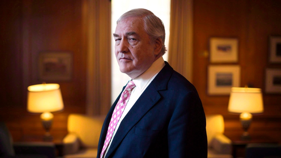 Former media baron Conrad Black is shown at the University Club in Toronto on Tuesday, November 11, 2014. (Darren Calabrese/The Canadian Press)