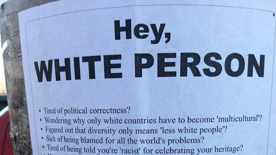 A photo of a sign in Toronto posted by Twitter user @KerrETeach is shown in a handout photo. (THE CANADIAN PRESS/HO-Twitter-@KerrETeach)