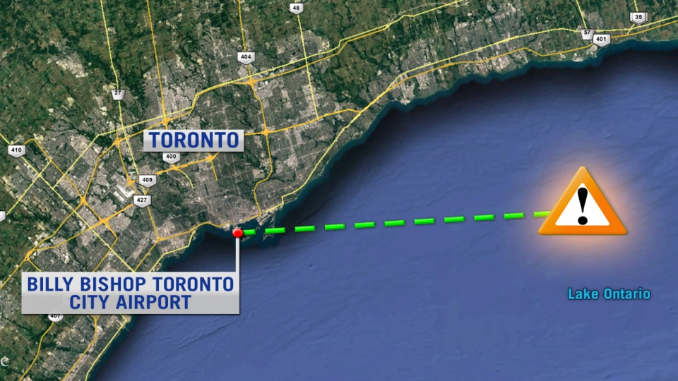 An Ottawa-Toronto Porter Airlines flight with 54 passengers was flying at just under 3,000 metres over Lake Ontario and was about 55 kilometres from Toronto's island airport when the plane narrowly avoided a mid-flight collision with what may have been a drone at 7:30 a.m. E.T. on Monday, Nov. 14, 2016.