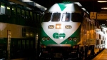 A GO Transit train in Toronto