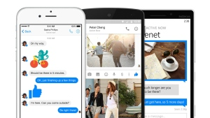 Facebook is under pressure to profit from services such as Messenger (shown here), WhatsApp and Instagram. © Facebook