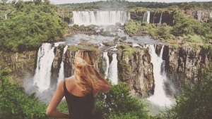 Cassie De Pecol in Foz do Iguaçu, Brazil. (expedition_196 / Instagram)