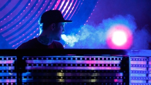 Joel Thomas Zimmerman, better known by his stage name deadmau5 performs at the Bonnaroo Music and Arts Festival on Saturday, June 13, 2015 in Manchester, Tenn. (Photo by Wade Payne/Invision/AP)