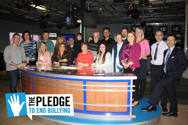 CTV London staff members take the Pledge to End Bullying.