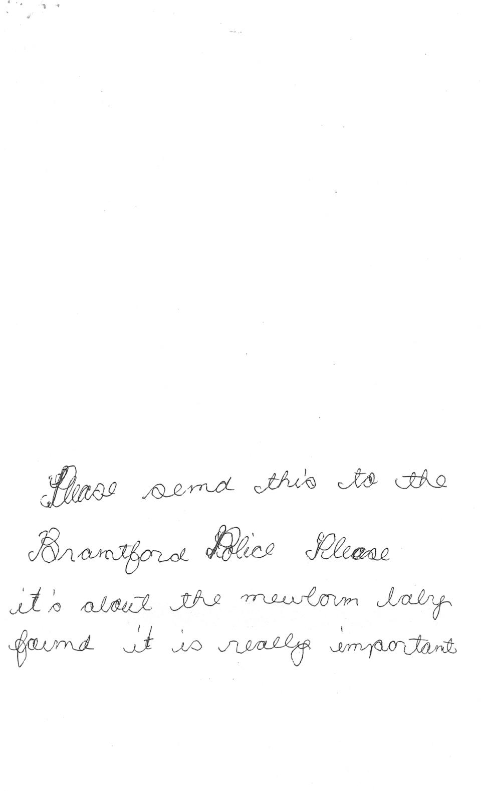 Baby Parker letter 1