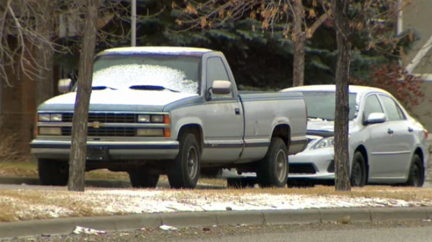 Light dusting of snow in Calgary Tuesday makes easy work for the snow brush