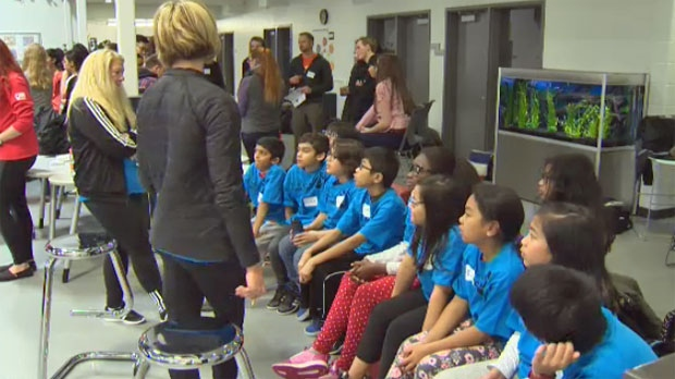 Students learn how to get their classmates moving as part of an Ever Active School symposium