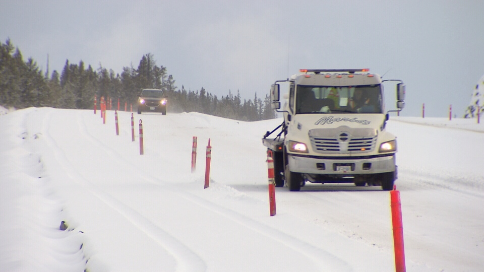 Winter wallop stops traffic on mountain highway