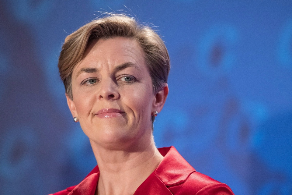 Conservative leadership candidate Kellie Leitch speaks during the Conservative leadership debate in Saskatoon, Wednesday, Nov. 9, 2016. (Liam Richards / THE CANADIAN PRESS)