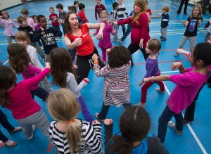 Children take part in a dance class in Toronto on Wednesday, Feb. 29, 2012. (THE CANADIAN PRESS/Nathan Denette)