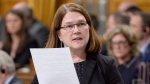Indigenous Services Minister Jane Philpott answers a question during question period in the House of Commons on Parliament Hill in Ottawa on Wednesday, November 16, 2016. (THE CANADIAN PRESS / Adrian Wyld)