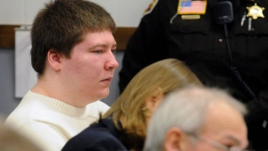 Brendan Dassey, left, listens to testimony at the Manitowoc County Courthouse in Manitowoc, Wis. on Jan. 19, 2010. (Sue Pischke/Herald Times Reporter via AP, File)