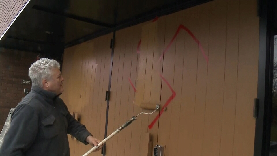 Swastikas painted on Ottawa synagogue