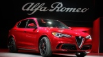 The 2018 Alfa Romeo Stelvio is introduced during the Los Angeles Auto Show Wednesday, Nov. 16, 2016, in Los Angeles. (AP / Jae C. Hong)