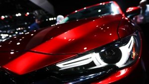 A 2017 Mazda CX-5 is displayed during the Los Angeles Auto Show in Los Angeles, Wednesday, Nov. 16, 2016. (AP Photo / Chris Carlson)