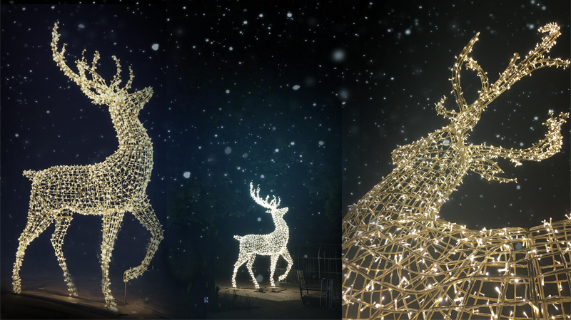 Enchanted is made up of more than 55,000-square-feet of illuminated holiday-themed sculptures. (SHINE)