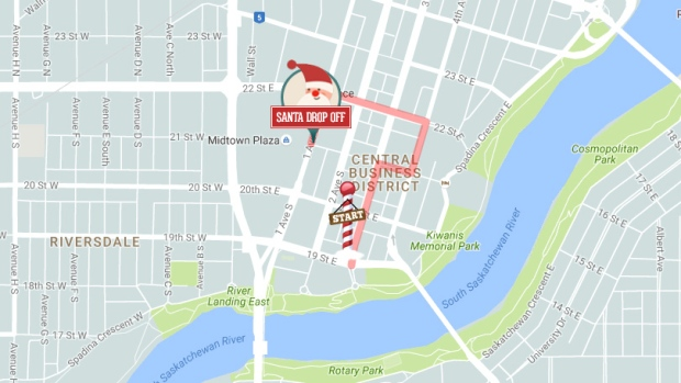 winnipeg santa claus parade route pdf