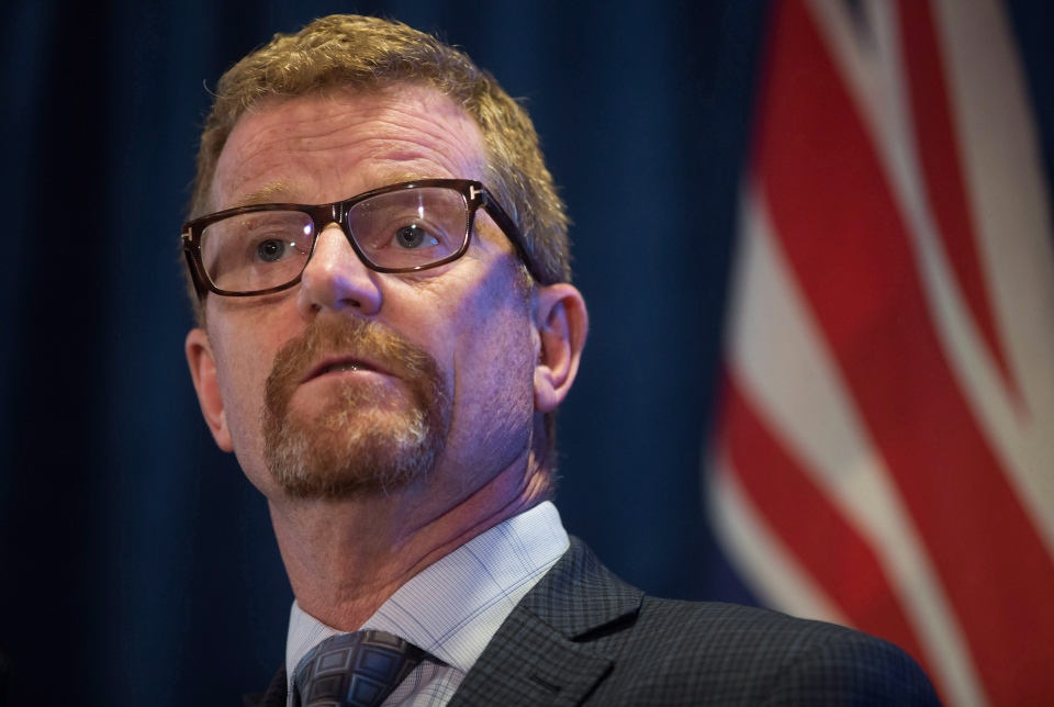 British Columbia Health Minister Terry Lake pauses while speaking about the overdose crisis of deaths involving fentanyl-laced drugs, in Vancouver, B.C., on Wednesday September 21, 2016. (Darryl Dyck / THE CANADIAN PRESS)