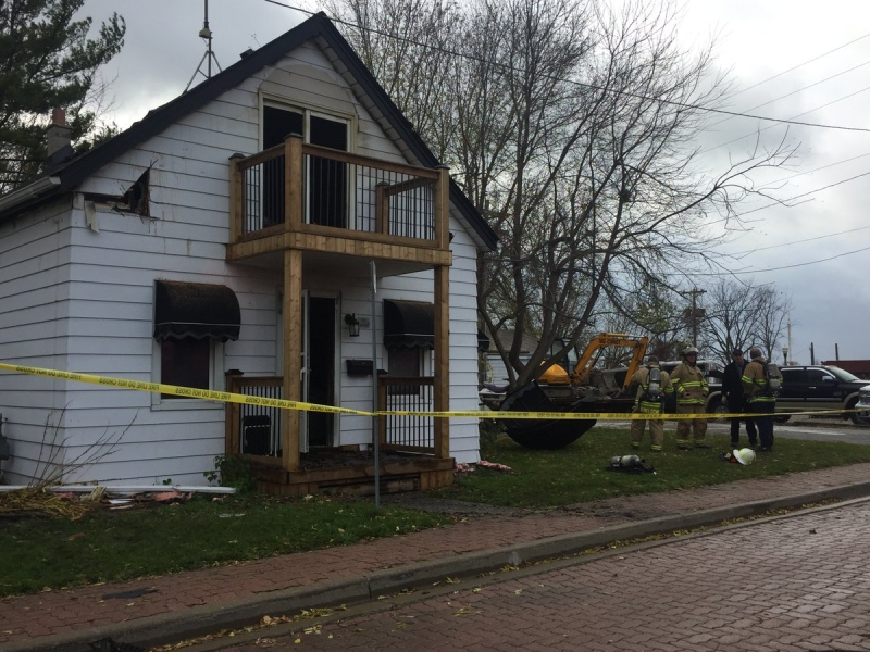 A fire in a home on Gore Street in Amherstburg on November 19th, 2016 causes about $150,000 dollars in damage.