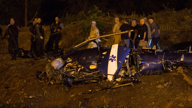 Brazil police copter on anti-crime op crashes