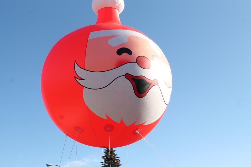 Santa Claus parading through Regina on Sunday
