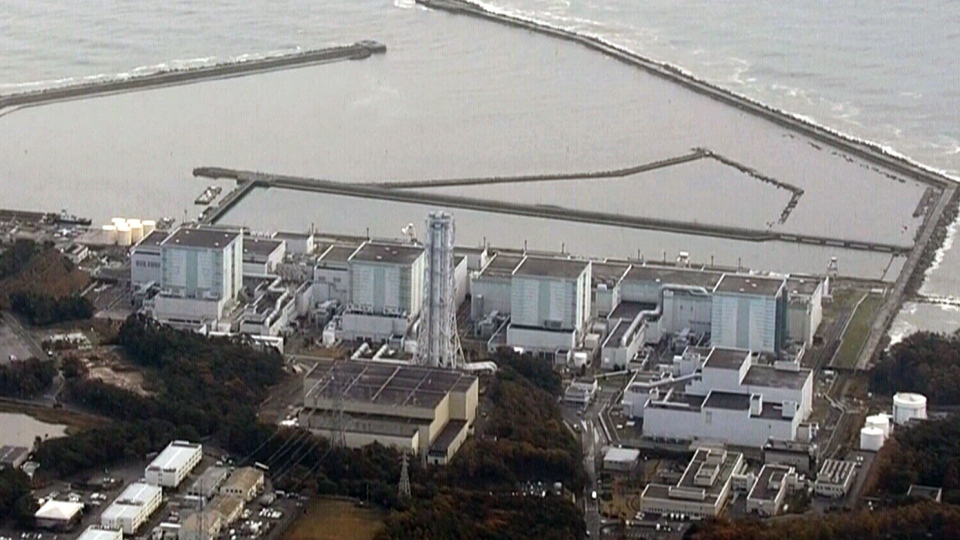 Fukushima Daiichi Nuclear Power Plant is seen from the air on Monday, Nov. 21, 2016. A 7.4 magnitude earthquake struck off Japan's Fukushima prefecture Monday, triggering a tsunami warning.