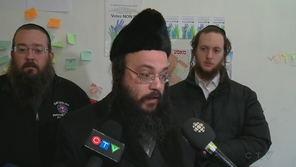 Abraham Ekstein is a Hasidic Jewish leader in Outremont (Nov. 21, 2016)