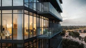 An artist's rendering shows plans for the No. 1 River Landing condominium. (no1riverlanding.com)