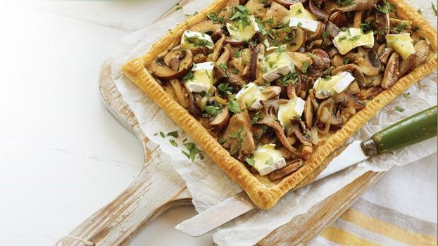 Roasted Mushroom & Brie Tart