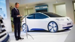 The head of Volkswagen core brand Herbert Diess at Volkswagen headquarters in Wolfsburg, Germany, on Nov. 22, 2016. (Philipp von Ditfurth / dpa via AP)