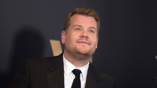 "Late-night host and ""Carpool Karaoke"" commuter James Corden will preside over the Grammy Awards telecast on Feb. 12, 2017, CBS and the Recording Academy announced Tuesday, Nov. 22, 2016. (Photo by Richard Shotwell/Invision/AP, File)"