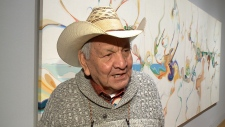 Renowned artist Alex Janvier at National Gallery.